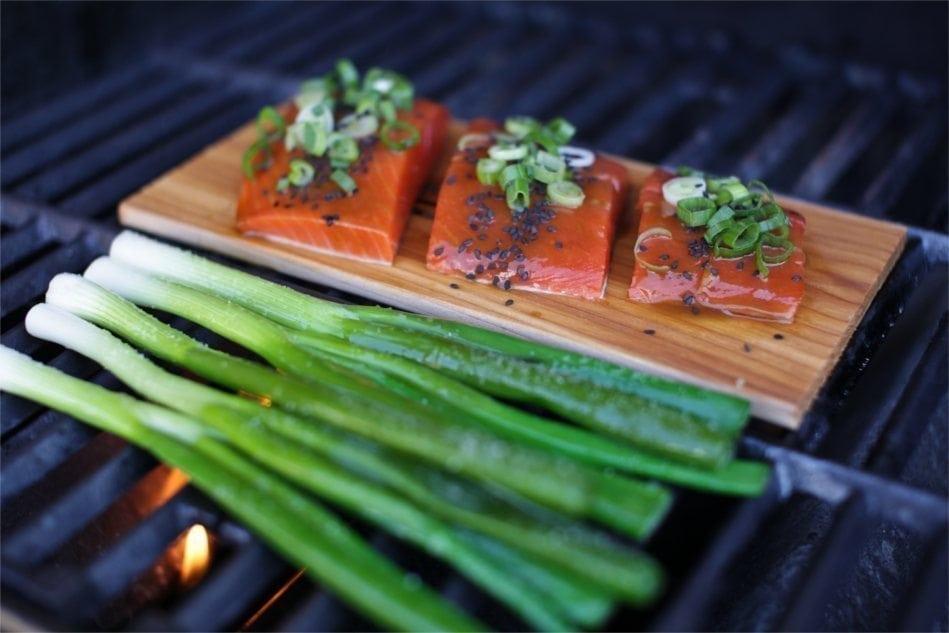 Cedar Planked Salmon with Maple, Orange & Wasabi Glaze Recipe