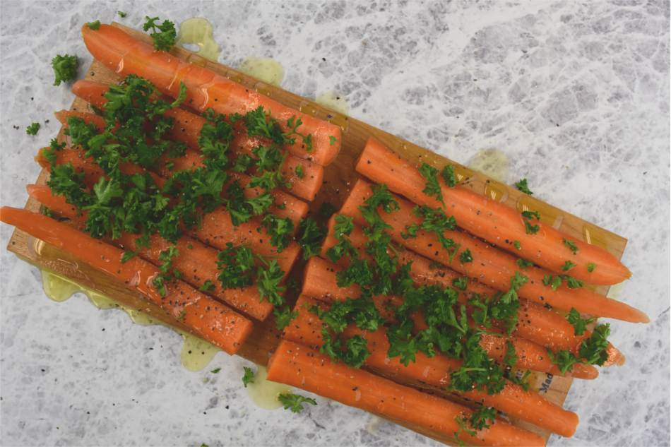 Maple Planked Carrots with Parsley Recipe