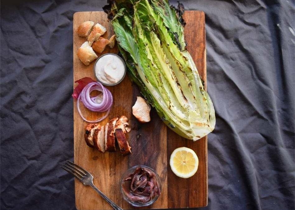 Cedar Planked Chicken Caesar Salad Recipe