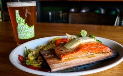 Cedar Planked Salmon at MickDuff's Brewing Company