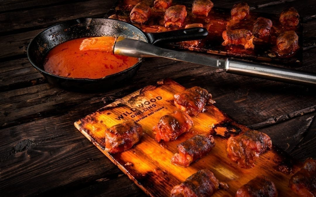 Cedar Planked Buffalo Chicken Bites Recipe
