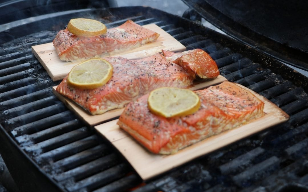 Cedar Planked Lemon Pepper Salmon Recipe
