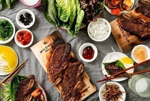 Korean Ribs Recipe cooked on Hickory Grilling Planks