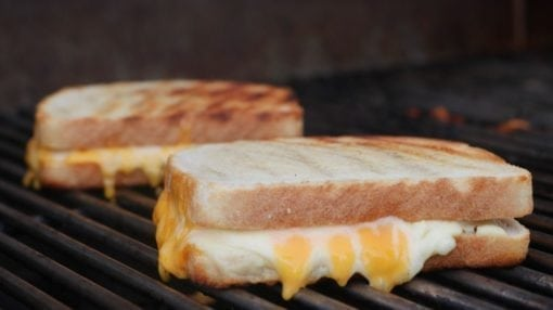 Grilled Cheese Sandwich Smoked on the Grill