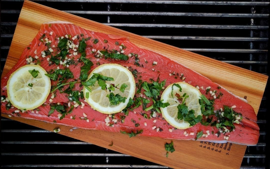Cedar Planked Salmon with Herbs and Lemon
