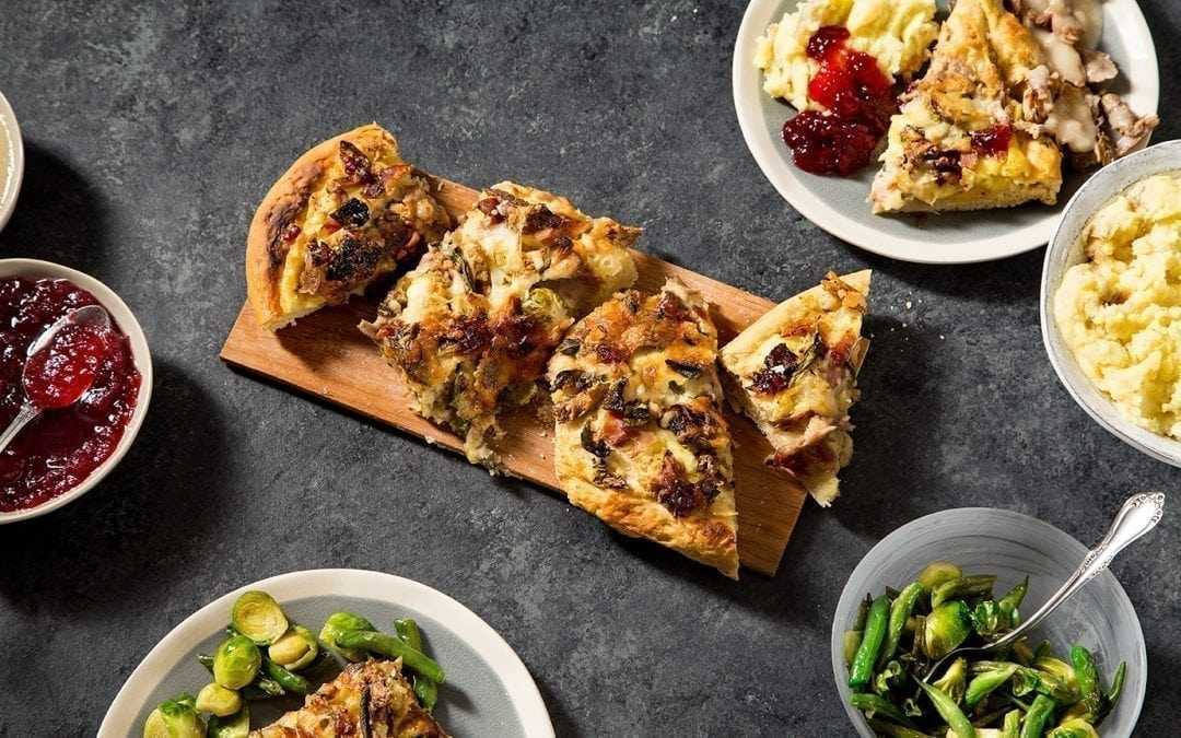 Maple Planked Thanksgiving Leftovers Pizza Recipe