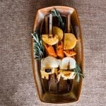 Honey Glazed, Cedar Skewered Root Vegetables