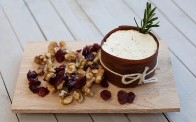Cedar Wrapped Boursin with Walnuts, Cranberries and Rosemary