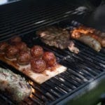 Hickory Planked BBQ Meatballs