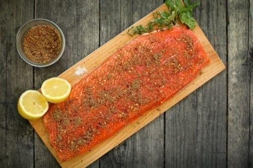 Cedar Plank Salmon Rubs