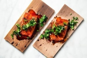 Hibiscus Glazed Cedar Planked Salmon Recipe