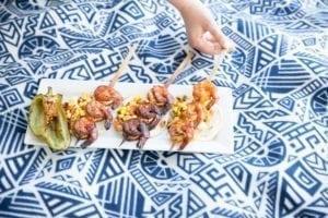 Cedar Skewered Cajun Shrimp Tacos Recipe