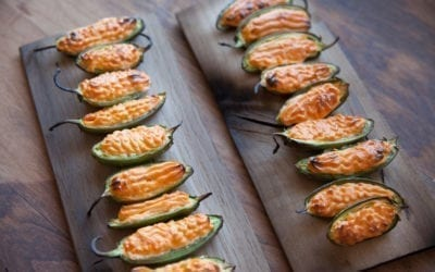 Oak Smoked Pimento Cheese Poppers