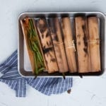 Cedar Wrapped Green Beans with Chili and Cumin