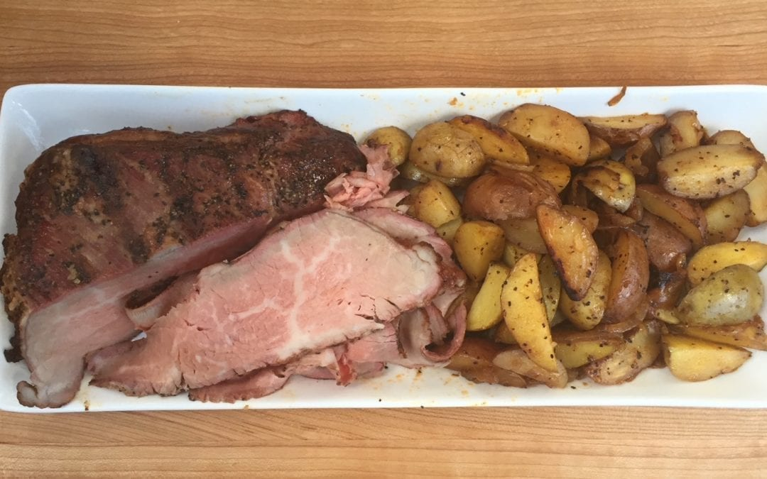 Cherry Smoked Tri-Tip with Potatoes and Onions