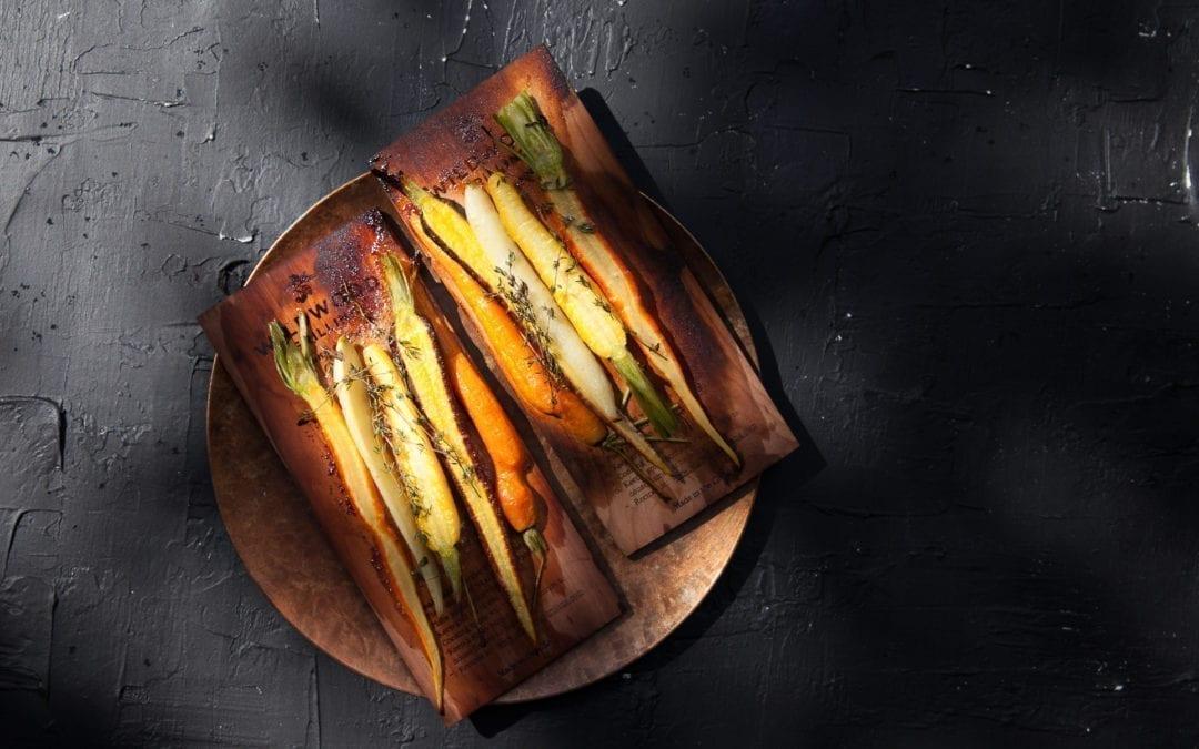Honey Glazed Oak Roasted Carrots