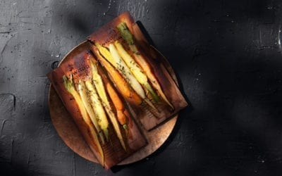 Honey Glazed Oak Roasted Carrots