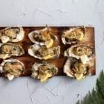 Cedar Planked Oysters with Butter and Panko