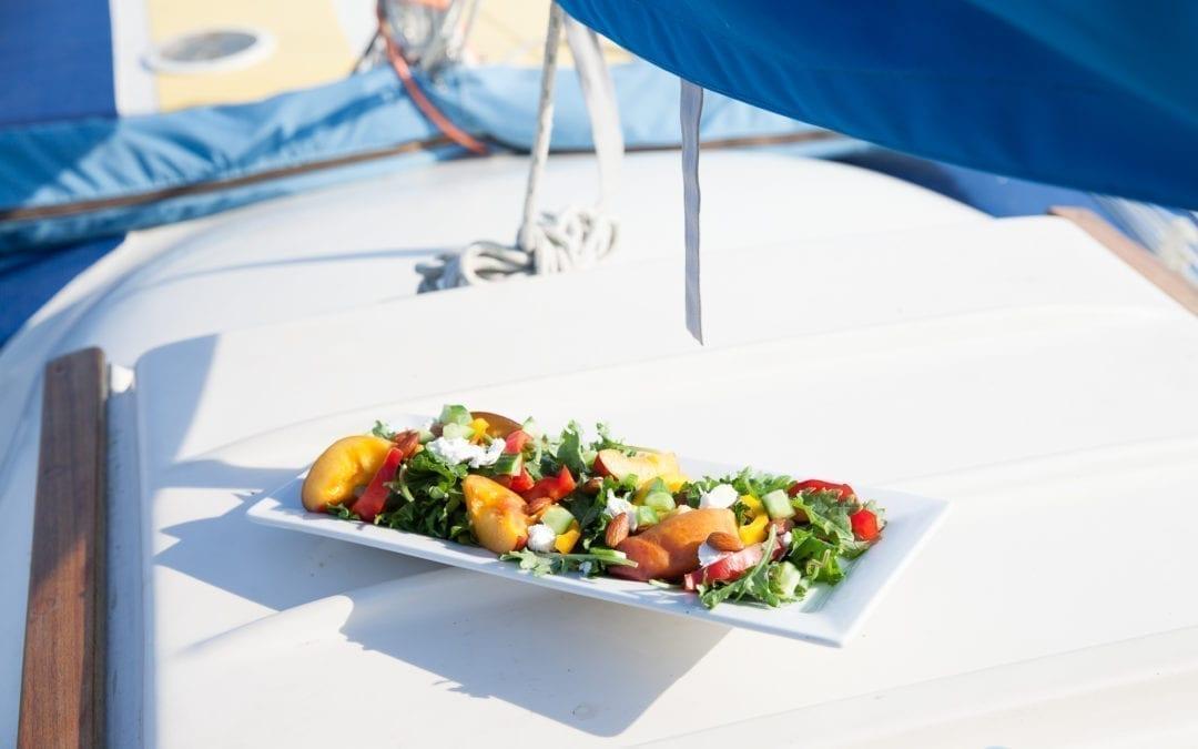 Cherry Planked Nectarine & Chèvre Salad