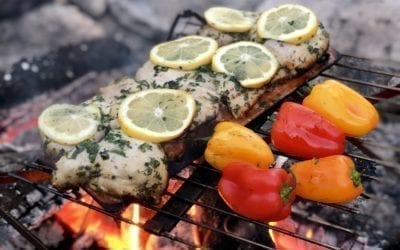 Cherry Planked Chicken with Lemon and Herbs