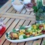 Cedar Planked Peach Summer Salad