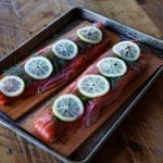 cedar planked sockeye salmon
