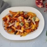 Red Oak Planked Squash & Pomegranate Salad