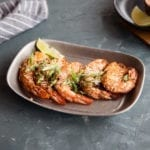 cedar planked jerk shrimp