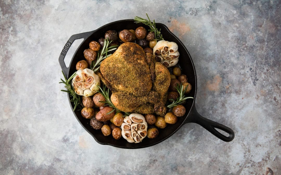 Hippie Gold Rub Cast-Iron Roast Chicken