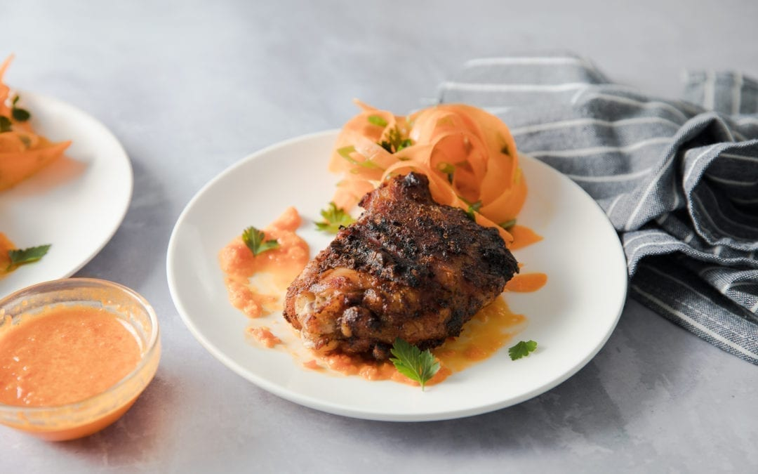 Boom Boom Chicken Thighs with Piri Piri Sauce