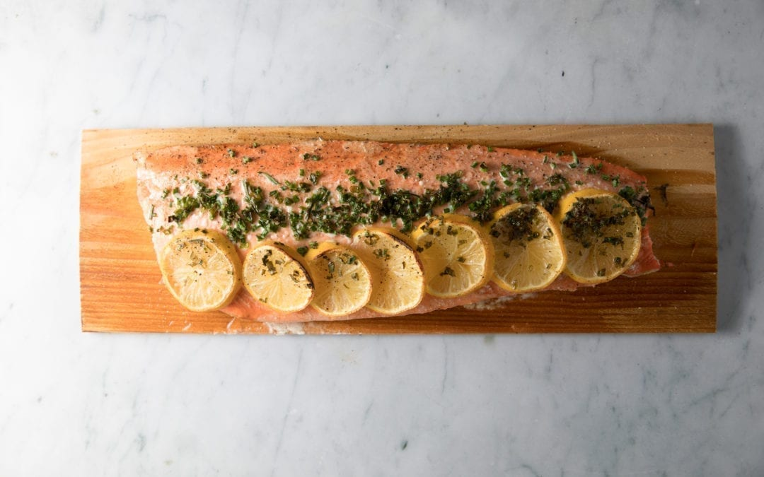 Oven Roasted Cedar Planked Salmon