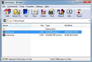 WinRAR Free Download Screenshot