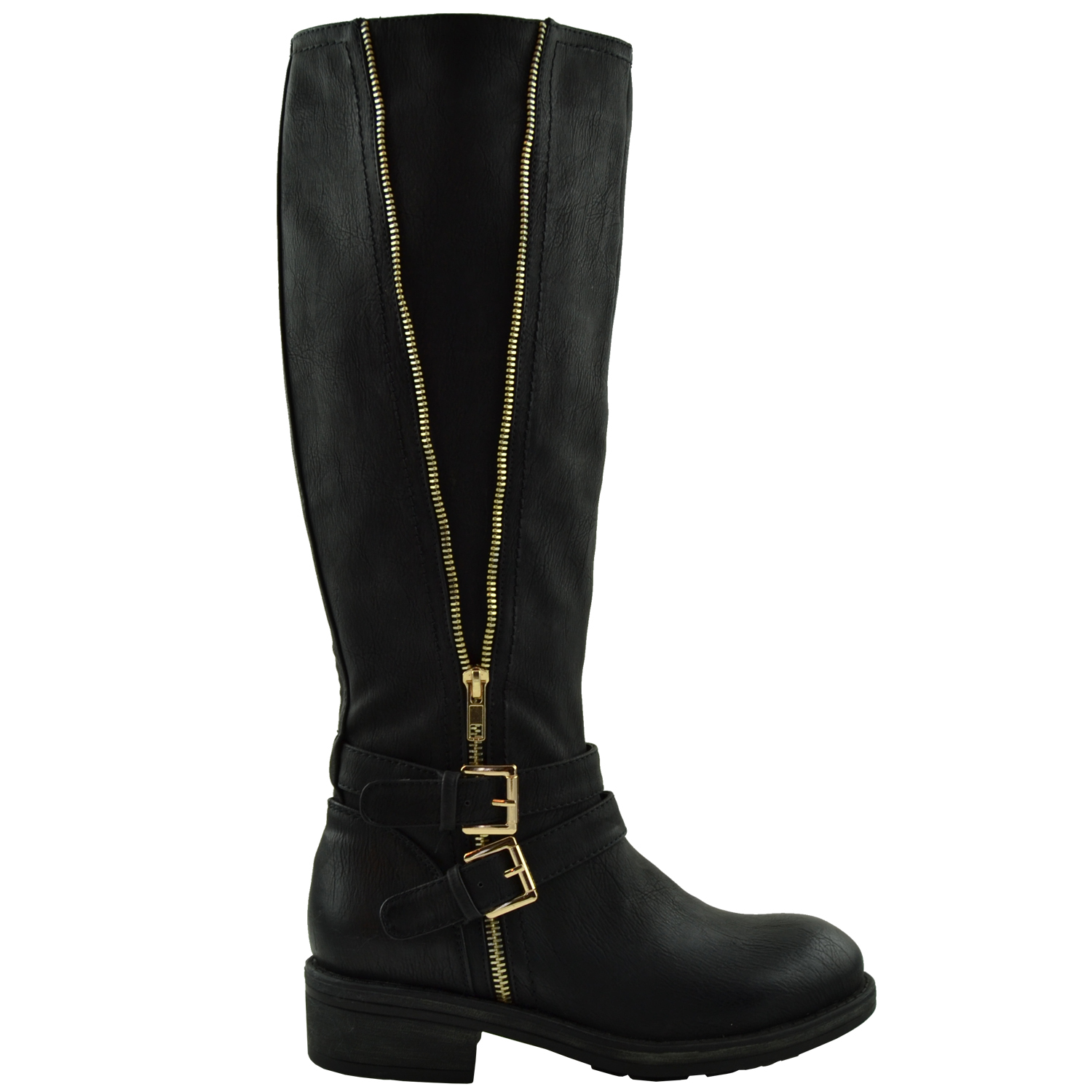 Tan Knee High Ring Strap Boots