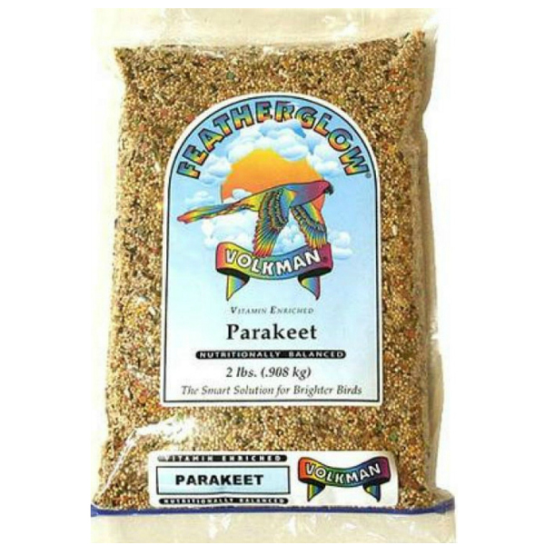 Volkman Featherglow Parakeet Vitamin Enriched Bird Seed 2 Lb (.9 Kg)