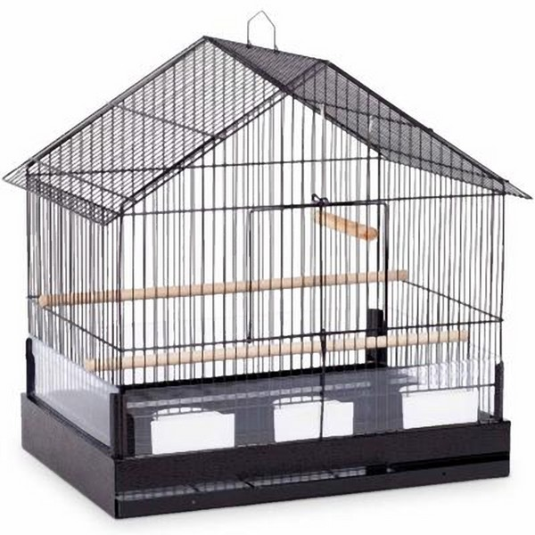 House Top Bird Cage for Small Birds by Prevue 110 Black