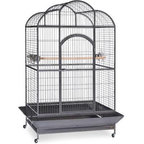 Elegant Top Bird Cage for Large Parrots by Prevue 3155 Silverado Black