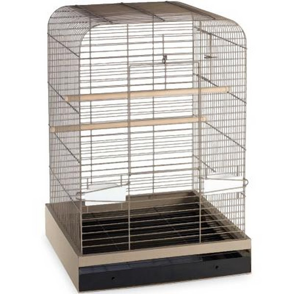 Flat Top Bird Cage for Medium Parrots by Prevue 124 Putty