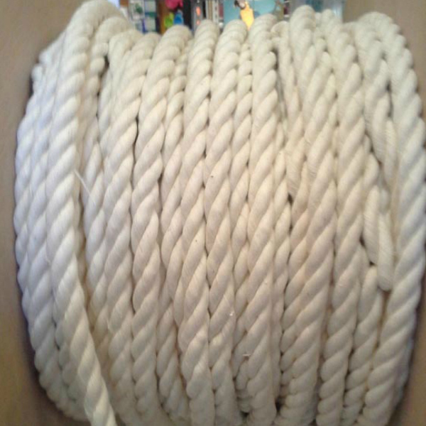 "100% Natural Cotton Twist Rope 1/2"" Thick x 10 feet"