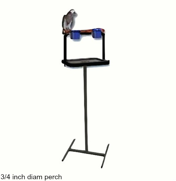Traveler Bird Stand Black W 3/4 Inch Perch