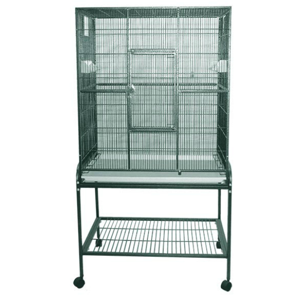 Indoor Aviary Bird Cage & Stand for Smaller Birds by AE 13221 Green