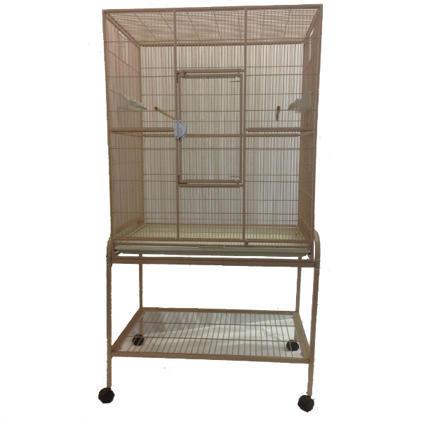 Indoor Aviary Bird Cage & Stand for Smaller Birds by AE 13221 Sandstone