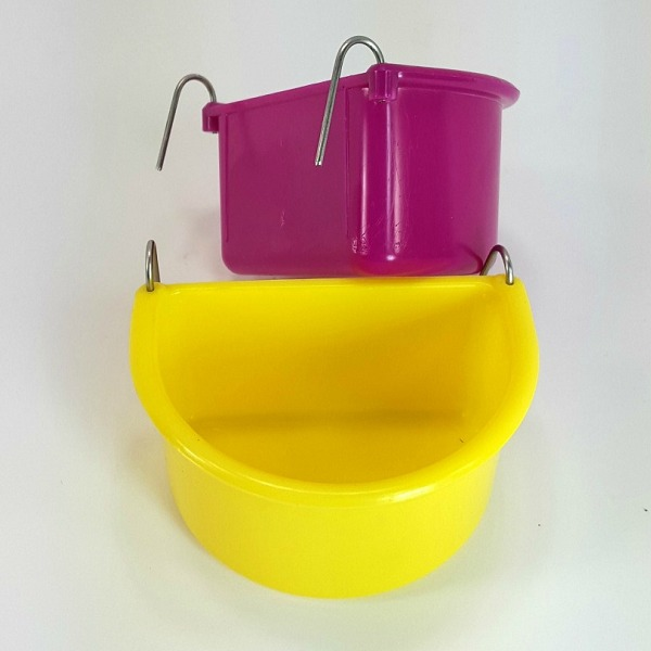 Hook On Food Water Dish for Small Birds Medium 2 pc by Hagen Hari