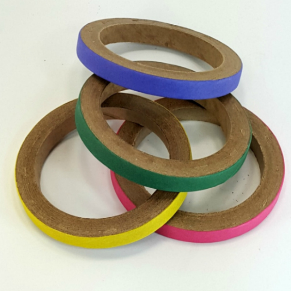 Birdie Bagels Medium 3 in x 1/2 in Paper Chew Rings 4 pc