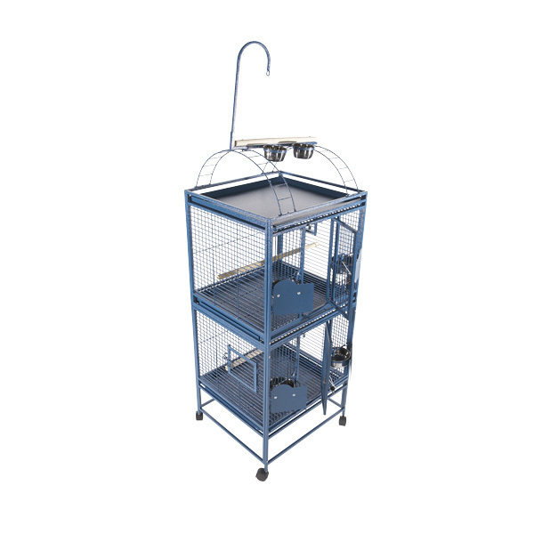 Breeder Bird Cage Double Stack Bird w Play Top by AE 2422-2 Platinum
