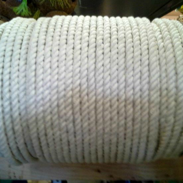 100% Natural Cotton Twist Rope 3/8 in (9.5 mm) Thick x 10 ft (3 m)