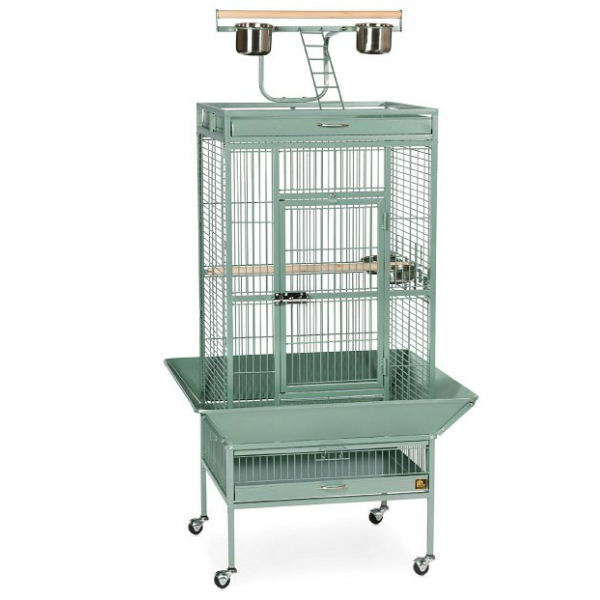 Play Top Bird Cage for Small Medium Parrots by Prevue 3152 Sage