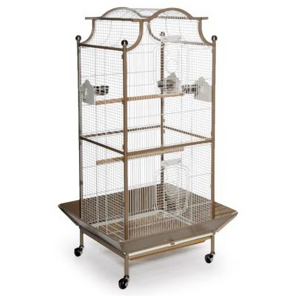 Elegant Top Bird Cage for Small Birds by Prevue 3141 Coco & White