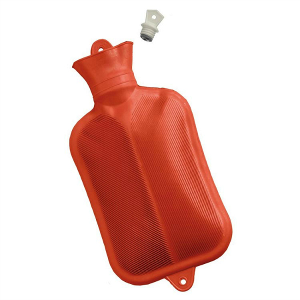 Red Rubber Hot Water Bottle Warmth For Emergencies