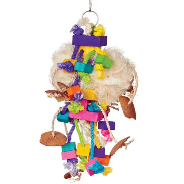 Bodacious Bird Toy for Medium to Large Parrots - Tough Puff