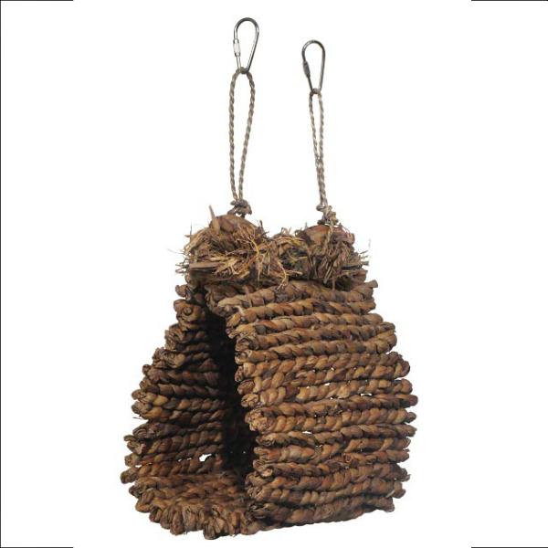 Snuggle Hut from Woven Sea Grass for Small-Medium Birds by Prevue